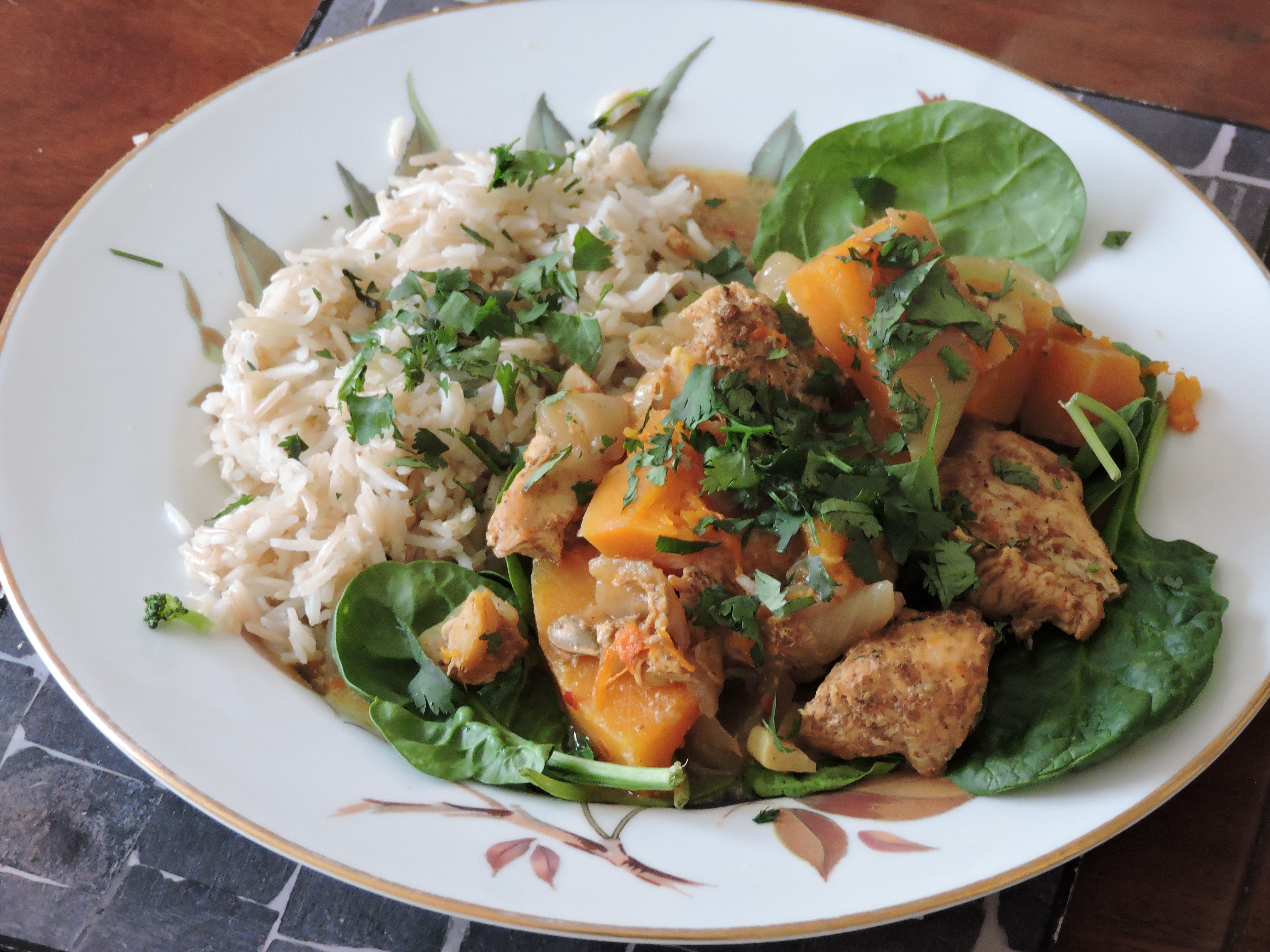 chicken and squash curry